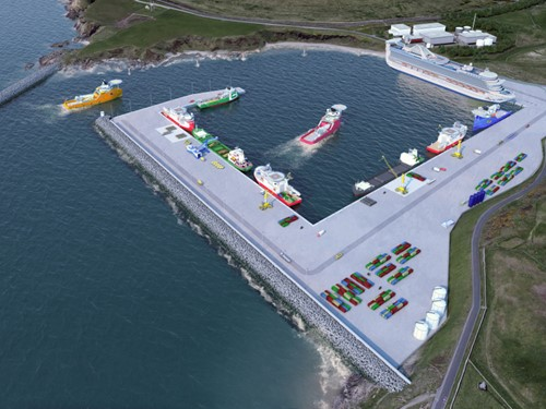 Aberdeen South Harbour - artist's impression