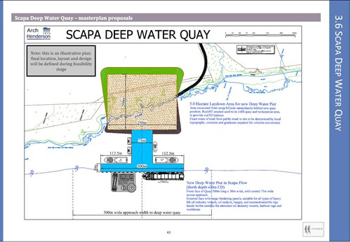Plan for Scapa Deep Water Quay
